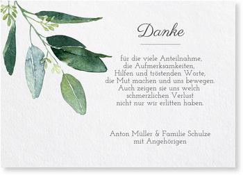 Trauer Dankeskarten / Danksagungskarten Trauer gestalten   Versandfertig in 24 h