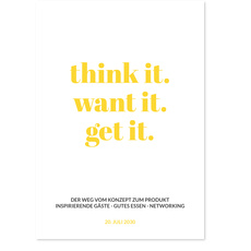 Think It, Get it