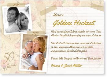 Vorlage: 20+ Einladungen Zur Goldenen Hochzeit