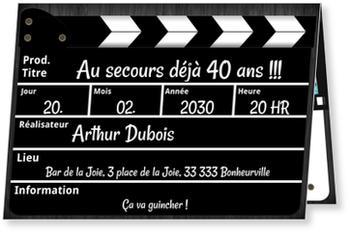 Carte Invitation Anniversaire 40 Ans Bonnyprints Fr