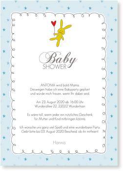 Häschen Einladungskarten Babyshower