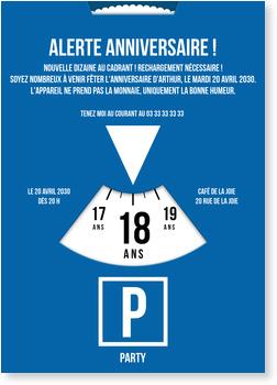 L Heureux Dateur Carte D Invitation D Anniversaire 18 Ans A Personnaliser Bonnyprints Fr