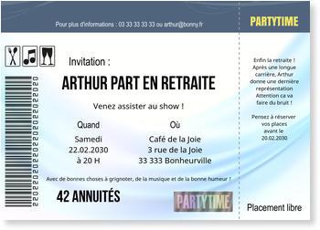 Carte Depart En Retraite Bonnyprints Fr