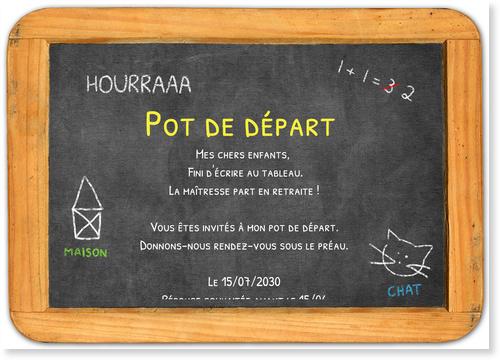 Fini Le Tableau Cartes Pour Un Pot De Depart A La Retraite Bonnyprints Fr
