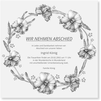 Traueranzeigen / Karten zur Trauer gestalten und drucken lassen | Versandfertig in 24 h