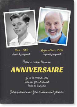 carte d invitation anniversaire 60 ans Carte invitation anniversaire 60 ans | bonnyprints.fr